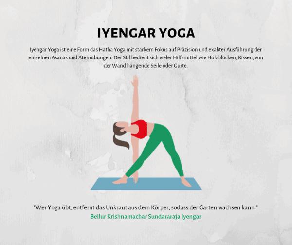 Alles über Iyengar Yoga