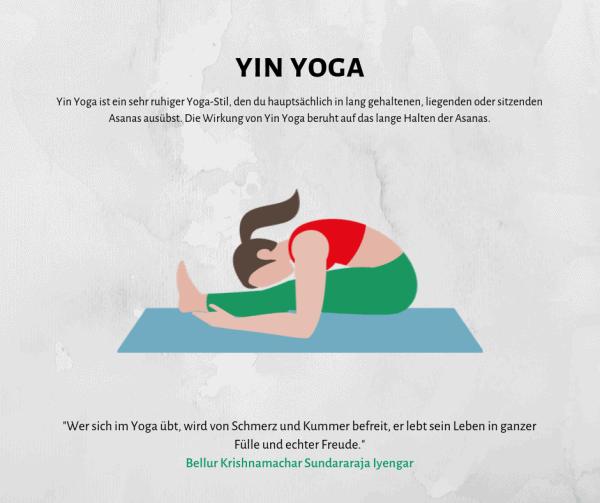 Alles über Yin Yoga