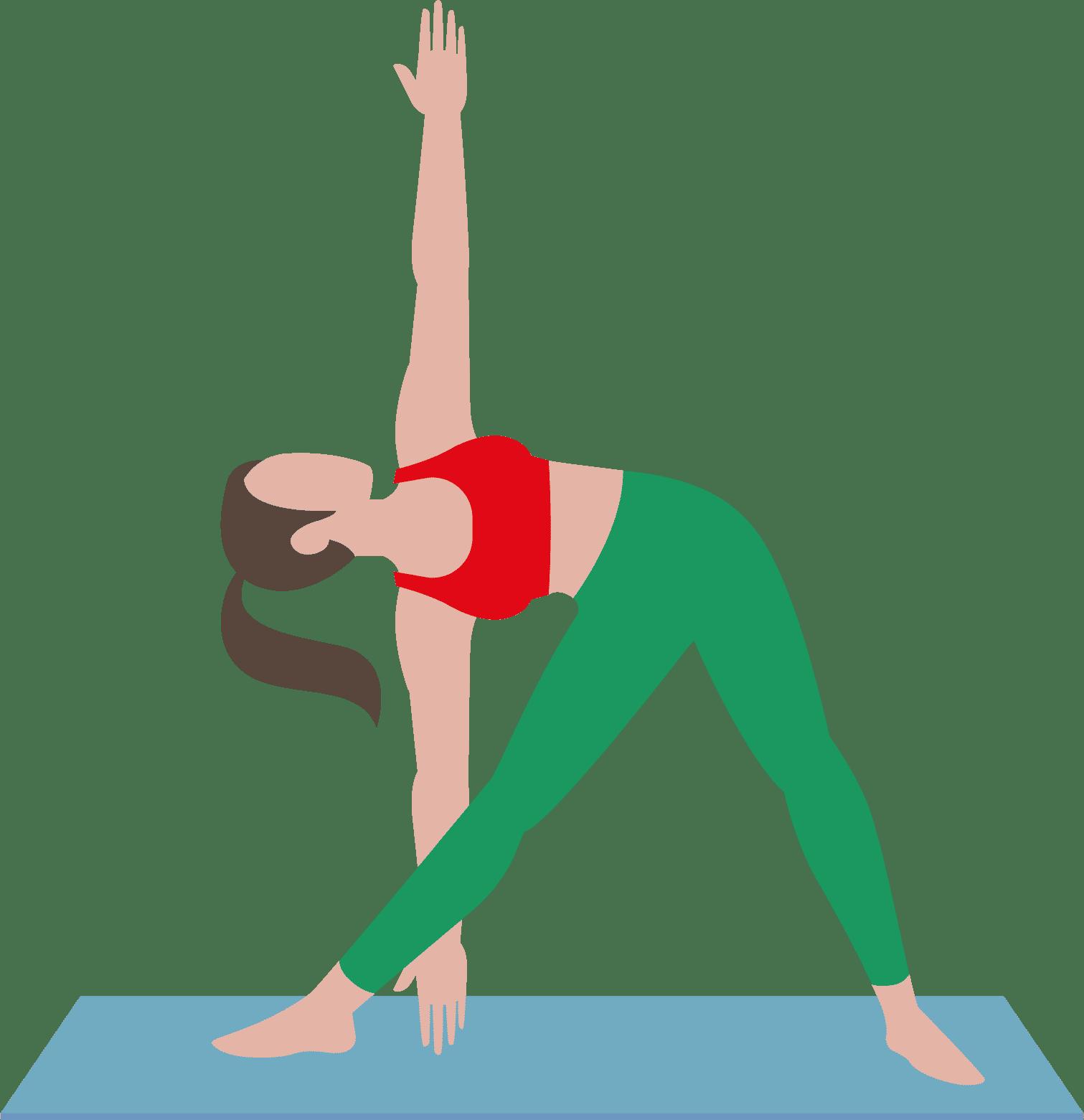 Beim Iyengar Yoga benutzt die viele Hilfsmittel, um präzise Yoga Übungen zu machen.