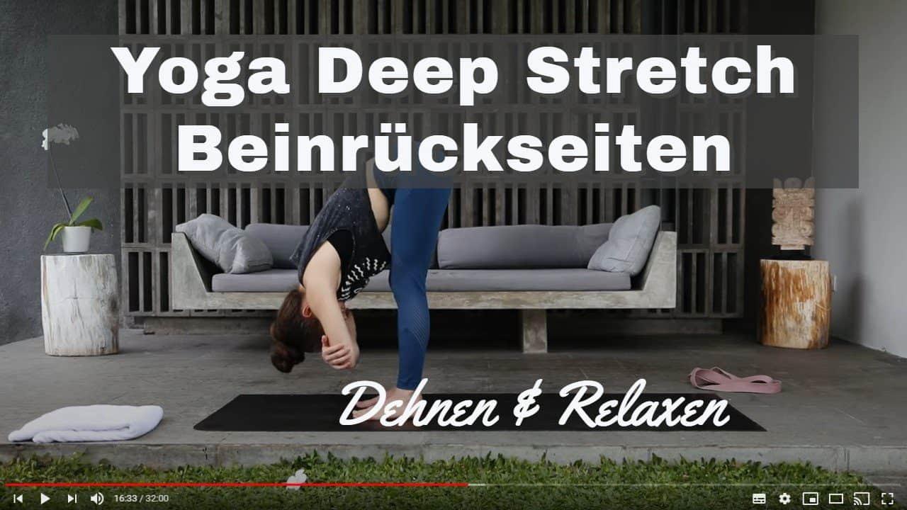 Yoga-Video zum Dehnen und Stretchen: Beine