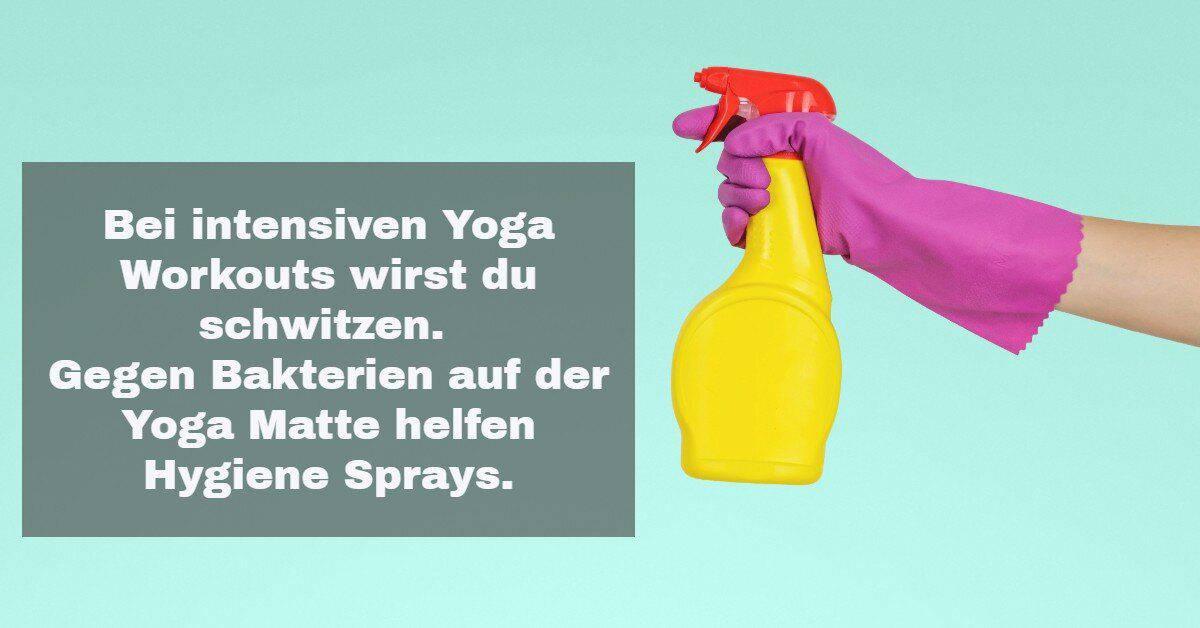 Yoga Zubehör: Yoga Matten Reiniger, weil Hygiene wichtig ist