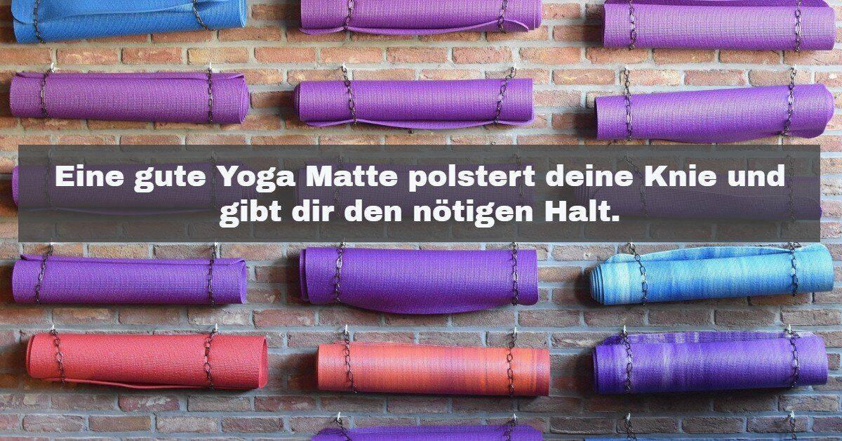 Yoga Zubehör: Die Yoga Matte ist das wichtigste Utensil für Yoga