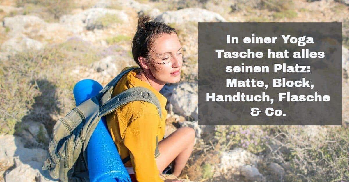 Yoga Zubehör: Für den Transport deiner Yoga Matte und Zubehör gibt es eigens entwickelte Taschen.
