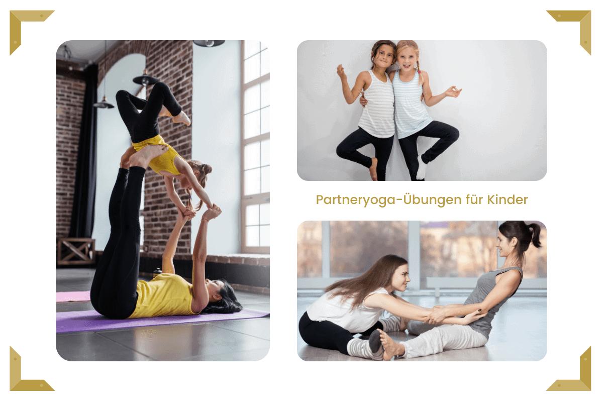Partneryoga-Übungen für Kinder